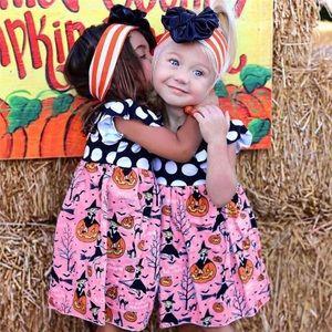 Pink Polka Dot Halloween Dress